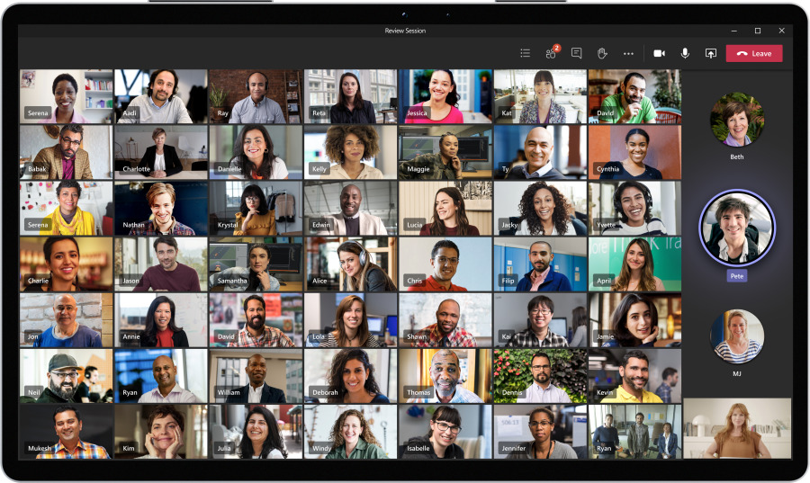 Microsoft teams Large Gallery View